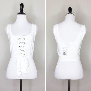 ✨NWT✨ F21 White Knit Crop Top